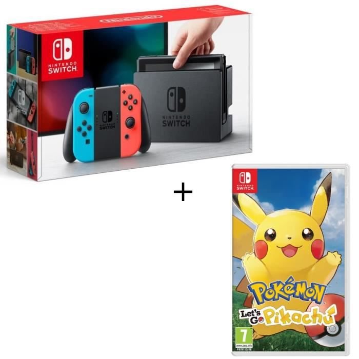CONSOLE NINTENDO SWITCH Pack Nintendo Switch + Pokemon Let's Go Pikachu