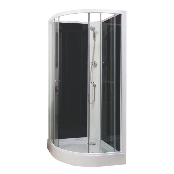 cabine de douche gena 1 4c 80cm achat vente cabine de douche cabine 1 4 de cercle gena 80cm. Black Bedroom Furniture Sets. Home Design Ideas