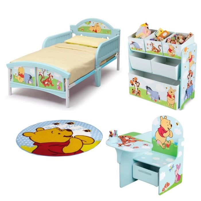 Delta children winnie pack mobilier pour chambre compl te for Mobilier chambre complete