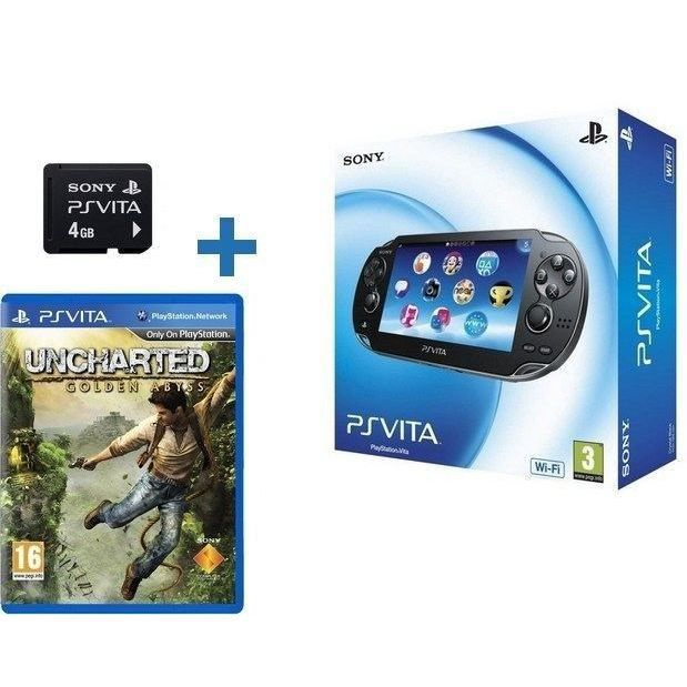 ps vita carte memoire uncharted golden abyss achat vente console ps vita ps vita carte. Black Bedroom Furniture Sets. Home Design Ideas