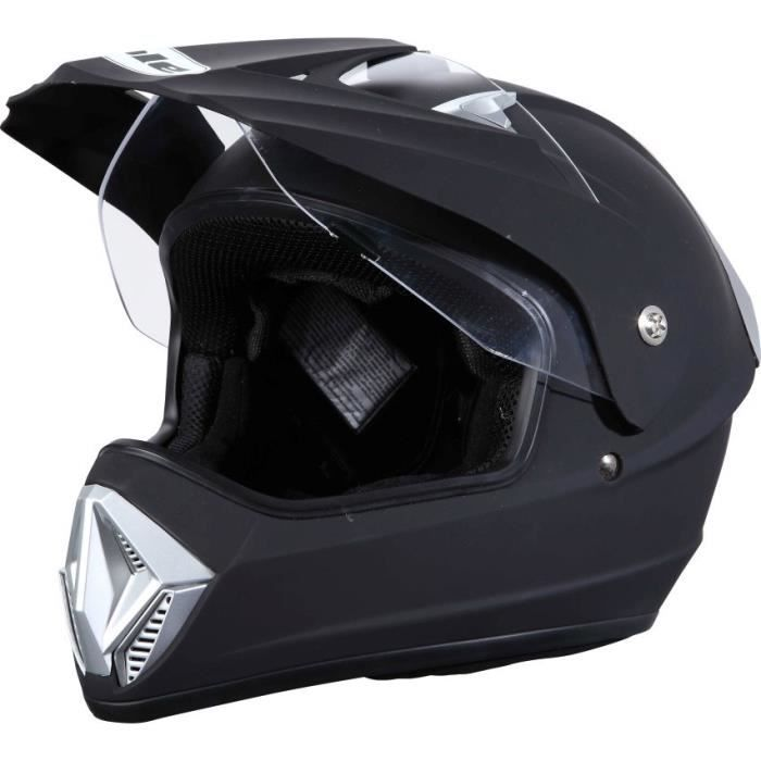 casque moto cross avec visiere. Black Bedroom Furniture Sets. Home Design Ideas