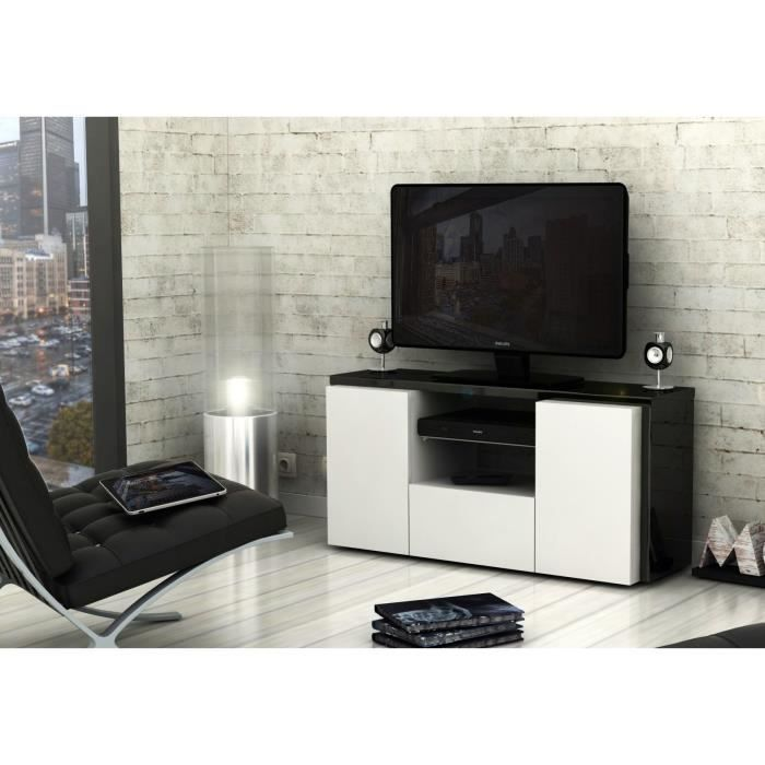meuble tv blanc et gris but. Black Bedroom Furniture Sets. Home Design Ideas