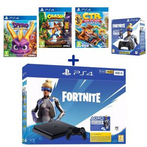 CONSOLE PS4 PS4 Slim 500 Go Noire + Crash Team Racing + Crash