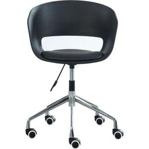 CHAISE DE BUREAU NOLAN Chaise de bureau - Simili noir - Style conte