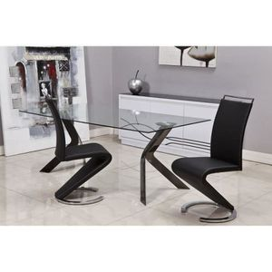 Lot 8 chaises salon achat vente lot 8 chaises salon for Chaise salon noir