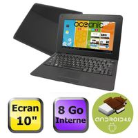 Ordinateur Portable OCEANIC OCEA8GB10BK NOIR CORTEX A9 1.5GHZ 1GO 8GO