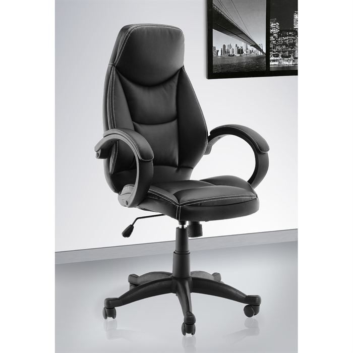 fauteuil de bureau office 62b noir achat vente chaise. Black Bedroom Furniture Sets. Home Design Ideas