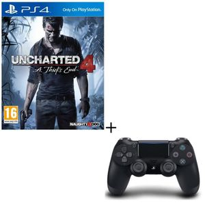 PACK ACCESSOIRE Pack Uncharted 4 : A Thief's End + Manette DualSho