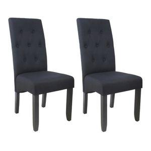CHAISE CUBA Lot de 2 chaises de salle à manger - Tissu no