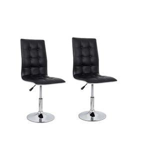 CHAISE LEAF Lot de 2 chaises de salle à manger - Simili n