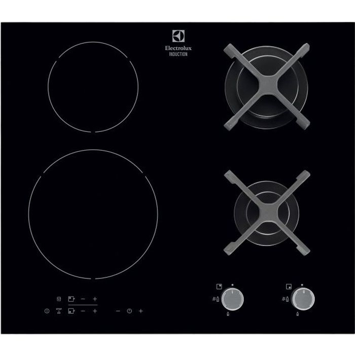 electrolux egd6576nok table de cuisson mixte gaz induction 4 zones 4800w et 3700w l59. Black Bedroom Furniture Sets. Home Design Ideas