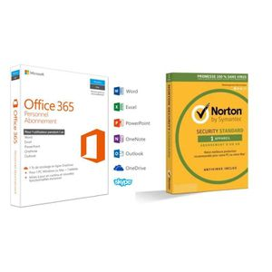 BUREAUTIQUE Pack Office 365 Personnel + Norton Security 2018