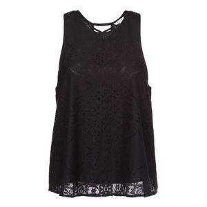 T-SHIRT DEELUXE T-Shirt Ester en Dentelle Noir Femme
