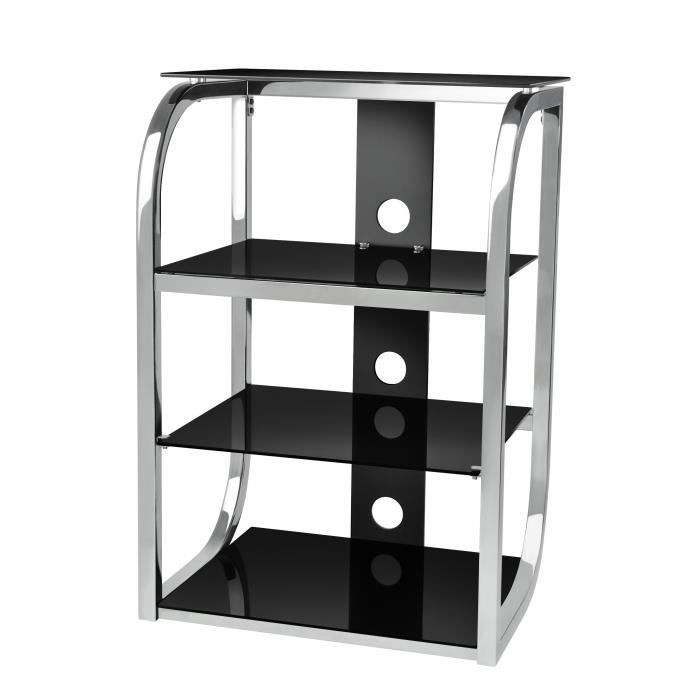 ateca damos hifi meuble tv chrome support mural prix pas cher cdiscount. Black Bedroom Furniture Sets. Home Design Ideas