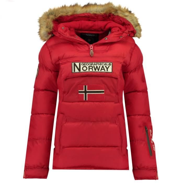 GEOGRAPHICAL NORWAY Doudoune Bianca 068 Femme Rouge