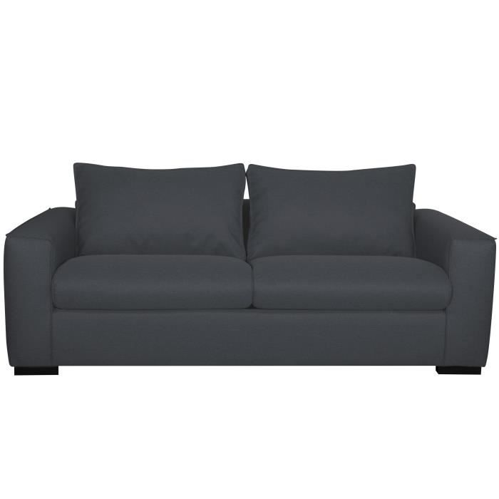 P Cm Anthracite Canapé L Evans 100 Places Made Tissu 3 H Convertible France X 198 In 76 b7Yg6fy