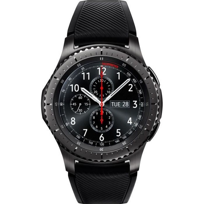 samsung gear s3 frontier dark grey achat montre. Black Bedroom Furniture Sets. Home Design Ideas