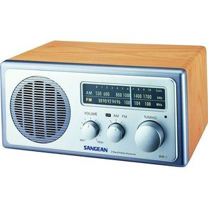Radio réveil SANGEAN WR1 WALNUT