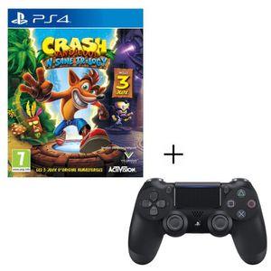 JEU PS4 Pack Crash Bandicoot N-SANE Trilogy + Manette PS4