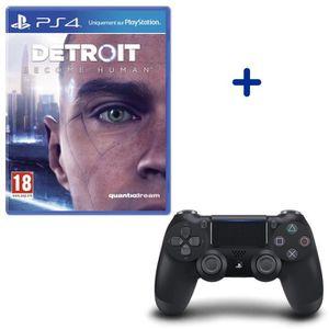 JEU PS4 Pack Detroit Become Human + Manette PS4 DualShock