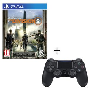 JEU PS4 Pack The Division 2 + Manette PS4 DualShock 4 Noir