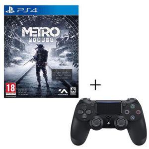 JEU PS4 Pack Metro Exodus + Manette PS4 DualShock 4 Noire