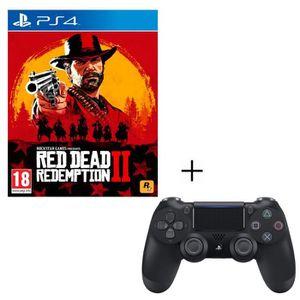 JEU PS4 Pack Red Dead Redemption 2 + Manette PS4 DualShock