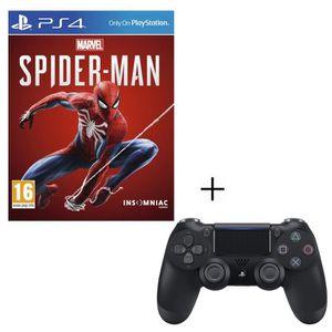 JEU PS4 Pack Marvel's Spider-Man + Manette PS4 DualShock 4