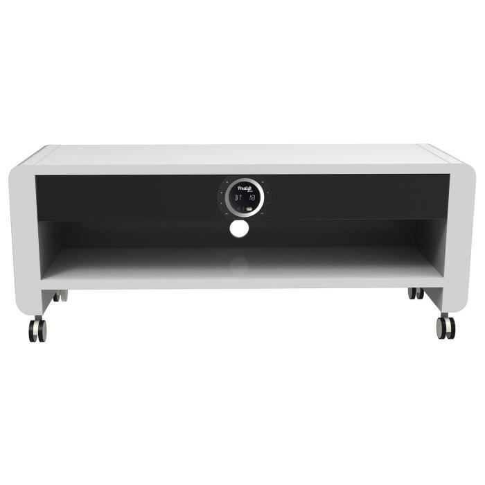 prestige moon meuble tv home cin ma blanc fixation support tv avis et prix pas cher cdiscount. Black Bedroom Furniture Sets. Home Design Ideas