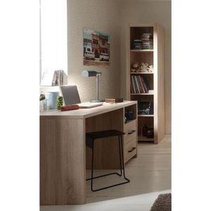 BUREAU  ALINE Bureau + bibliothèque chêne clair