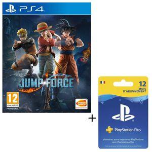 PACK ACCESSOIRE Pack Jump Force + Abonnement PlayStation Plus 12 M