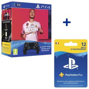 JEU PS4 Pack FIFA 20 + Manette DualShock Noire V2 + Abonne
