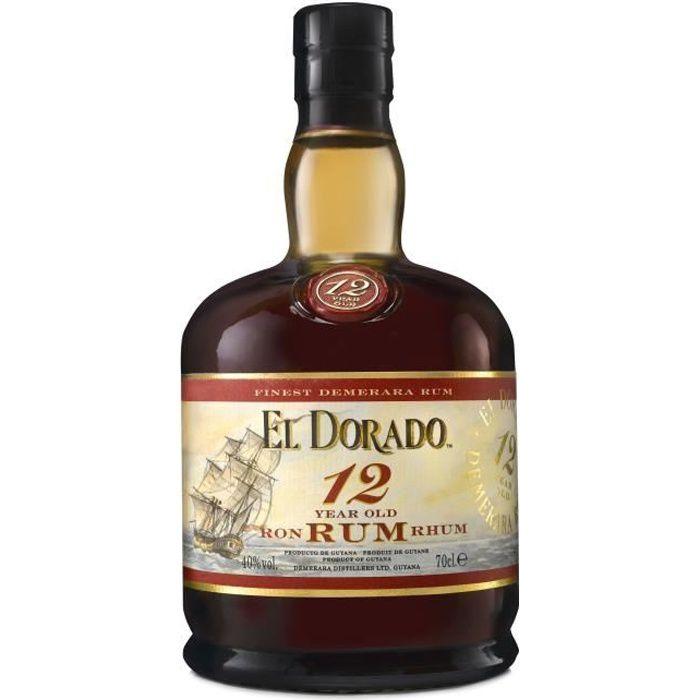 RHUM El Dorado - Rhum vieux - 12 ans - 40%vol - 70cl