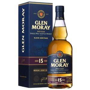 WHISKY BOURBON SCOTCH Glen Moray - 15 ans - Whisky - 40.0% Vol. - 70 cl