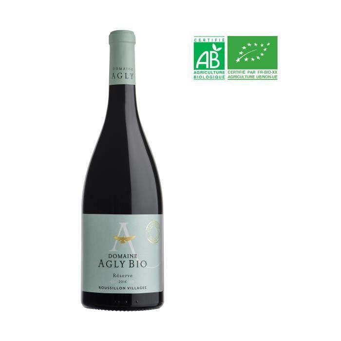VIN ROUGE Domaine Agly 2017 Côtes du Roussillon Villages - V