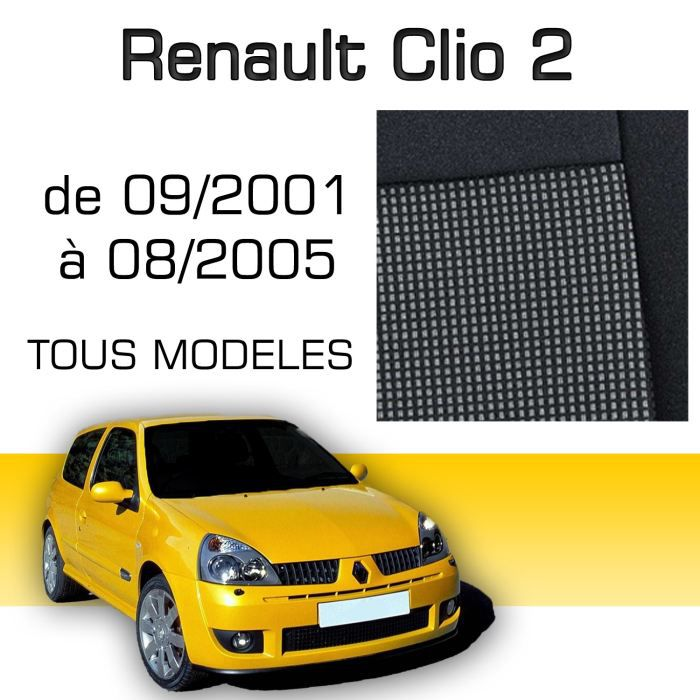 housse sur mesure clio2 09 2001 08 2005 achat vente housse de si ge housse sur mesure clio. Black Bedroom Furniture Sets. Home Design Ideas