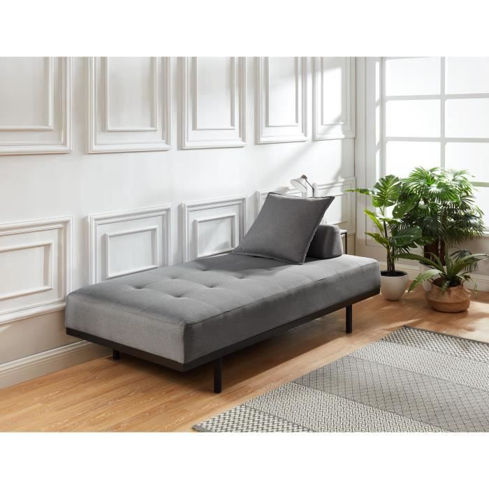 MÉRIDIENNE LINDON Méridienne DAYBED 3 places - Tissu gris cla