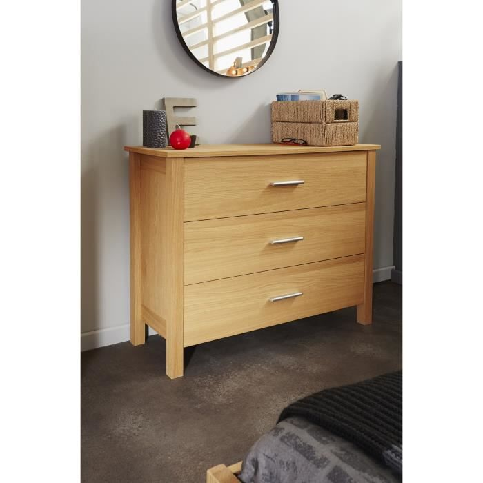 Abelino commode chambre adulte style contemporain placage for Meuble chambre adulte contemporain