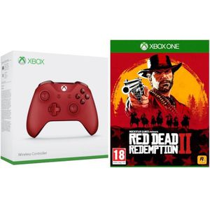 MANETTE JEUX VIDÉO Manette Xbox One sans fil Rouge + Red Dead Redempt