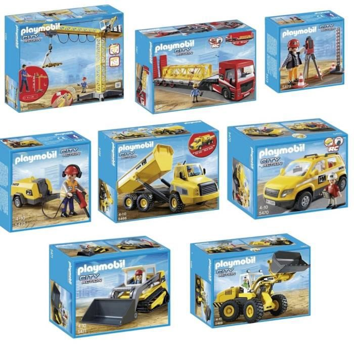 playmobil pack complet chantier - Playmobil Travaux