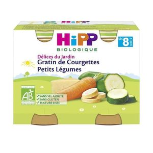 PURÉES DE LÉGUMES HIPP BIOLOGIQUE Délices du jardin Petits pots Grat