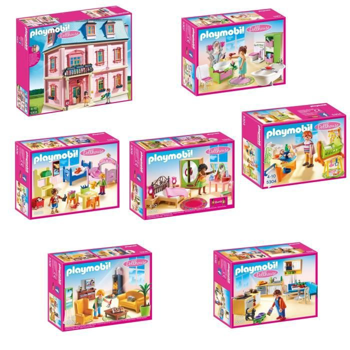 playmobil pack maison traditionnelle complet achat. Black Bedroom Furniture Sets. Home Design Ideas