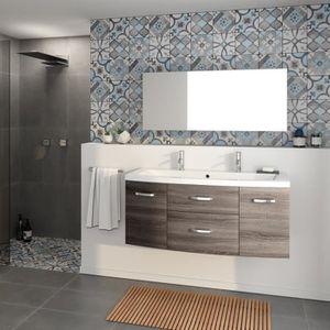 SALLE DE BAIN COMPLETE PACOME Salle de bain complète simple vasque L 120