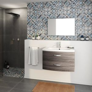 SALLE DE BAIN COMPLETE PACOME Salle de bain complète simple vasque L 80 c
