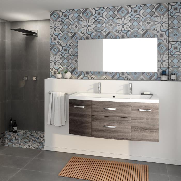 Meuble salle de bain grande vasque 2 robinets