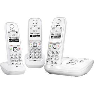 Téléphone fixe GIGASET AS405A Trio Répondeur Blanc