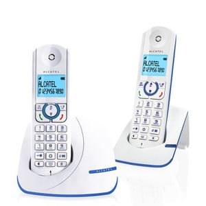 Téléphone fixe Alcatel F390 Duo Téléphone Sans Fil DECT Sans Répo