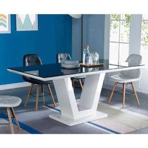 TABLE À MANGER SEULE QUEEN Table à manger 8 personnes contemporain - Bl