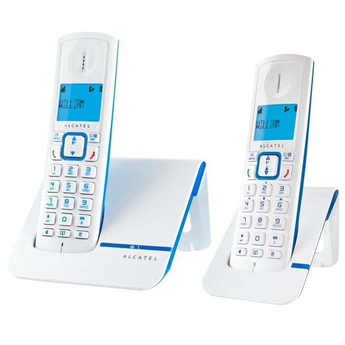 alcatel versatis f230 bleu sans fil duo sans r pondeur achat t l phone fixe pas cher avis et. Black Bedroom Furniture Sets. Home Design Ideas