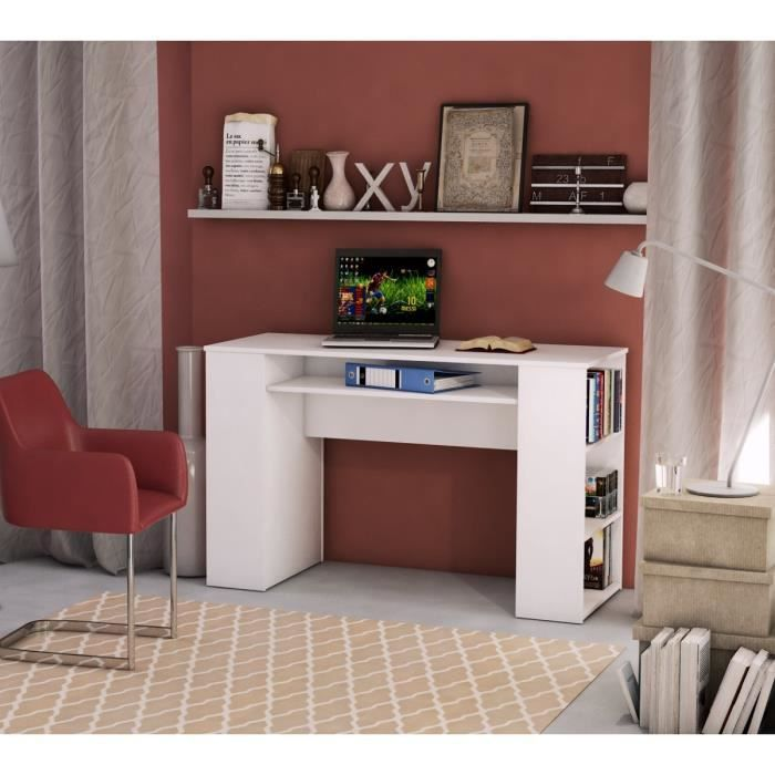 metro bureau 120 cm blanc achat vente bureau metro bureau 120cm structure panneaux de. Black Bedroom Furniture Sets. Home Design Ideas